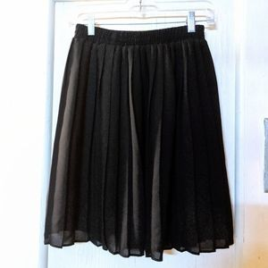 Vintage Chiffon Pleated Skirt (Made in USA!)